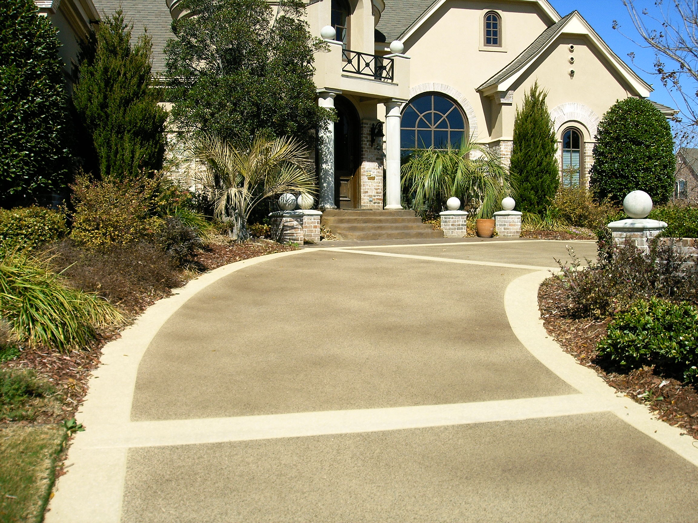Options for repairing a concrete driveway for Temperature to pour concrete driveway