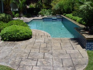 Pool Deck Stamped Overlay