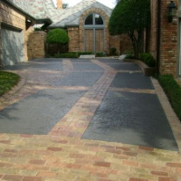 Residential Driveway with a Classic Texture