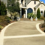 Classic texture on residential driveway