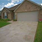 Residential Driveway Resurfaced with Limestone Overlay