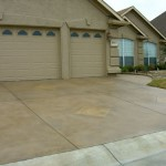 Concrete Resurfaced Driveway with a Stamped Overlay