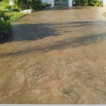 concrete driveway resurfaced with Tuscan texture