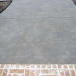Tuscan texture on residential driveway