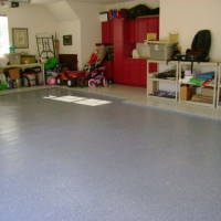 Concrete Resurfaced Garage with Epoxy Coating
