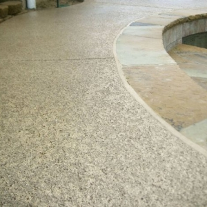 Concrete Resurfaced pool deck with a classic Texture
