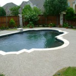 Classic texture on residential pool deck