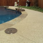 Classic texture with aggregate effects on residential pool deck