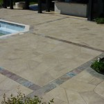 Limecoat on residential pool deck