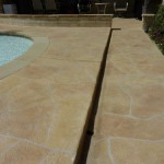 Lime Stone overlay on residential pool deck
