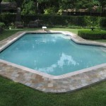 Residential Pool Deck With Thin Pavers