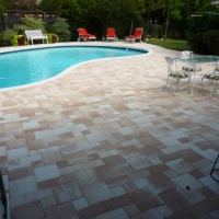 Thin Pavers on residential pool deck