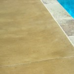 Tuscan texture on residential pool deck