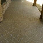 Concrete Resurfaced Wrap Around Porch with a Classic Texture