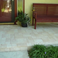 Residential Porch With Thin Pavers