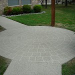Classic texture on residential patio