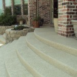 Classic texture on residential patio/steps