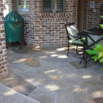 Limecoat on residential patio