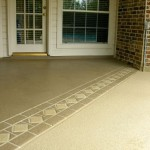 Concrete Resurfaced Patio with a Stamped Overlay