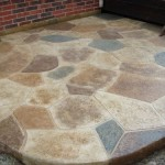 CONCRETE RESURFACING WITH STAMPED OVERLAY