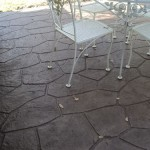 Stamp overlay on residential patio