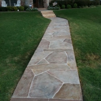 Residential Walkway Resurfaced with Limestone Overlay