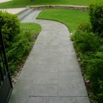 Concrete Resurfaced Walkway with a Stamped Overlay