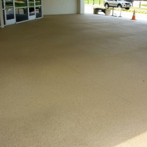 Concrete Resurfaced Driveway with a Classic Texture