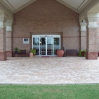 Commercial Driveway with Thin Pavers