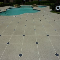 Classic texture with pattern on commercial pool deck