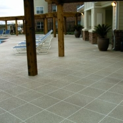 Classic texture with tile pattern on commercial pool deck
