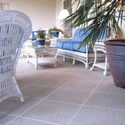 Concrete Resurfaced Patio with a Classic Texture