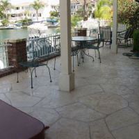 Commercial patio with Limestone Overlay