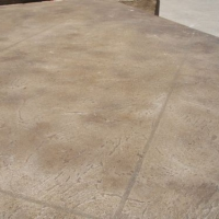 Concrete resurfaced with Tuscan texture