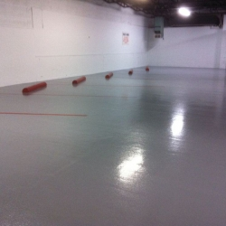 Parking Garage Resurfaced with Polyaspartics Coating