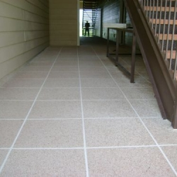 Concrete Resurfaced Walkway with a Classic Texture