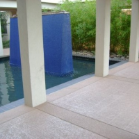 Concrete resurfaced walkway at hotel