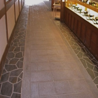 Commercial Walkway Resurfaced with Limestone Overlay
