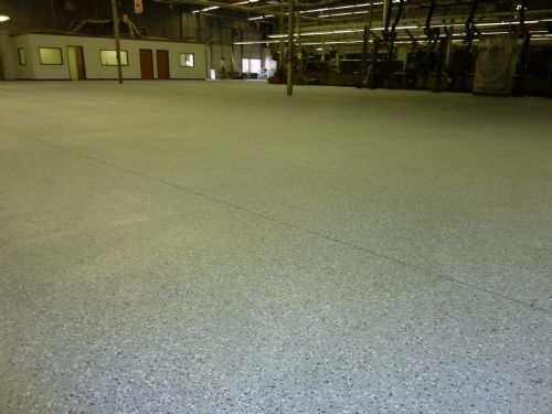 Epoxy chip system in distribution warehouse