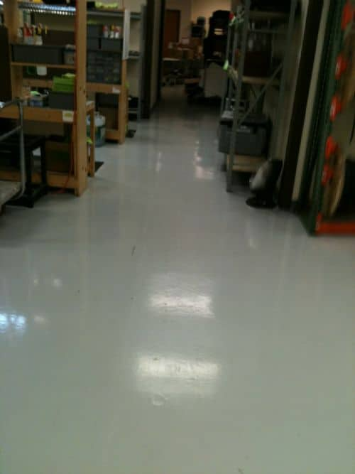 epoxy flooring in manufacturing facility
