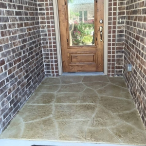 Cook job-after stamped in flagstone pattern