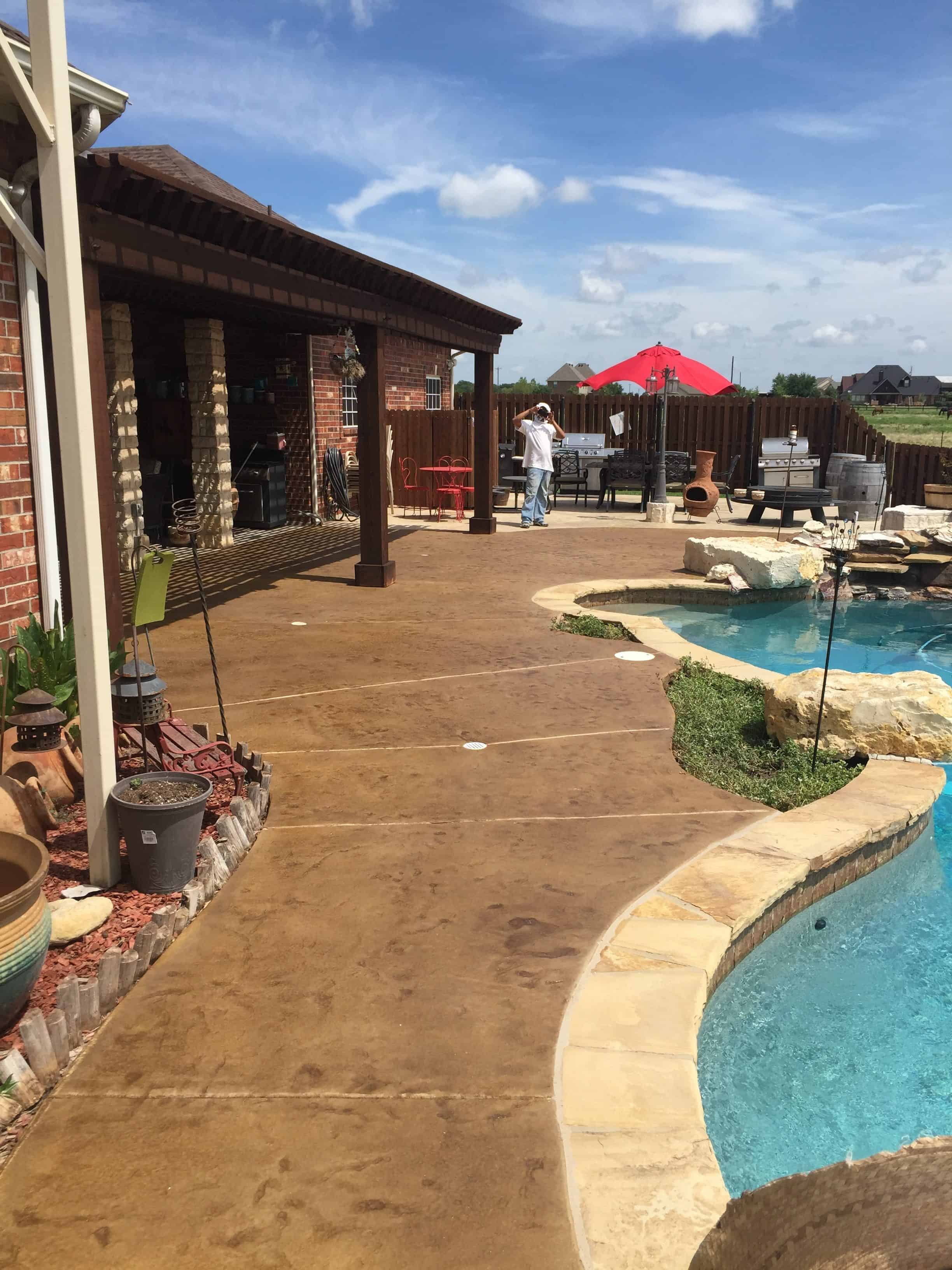 Stamped concrete rehab