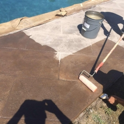 Stamp concrete restoration Plano TX