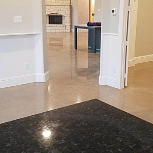add sophistication to your entryway with polished concrete
