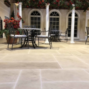 change the feel of your entryway with limestone overlays