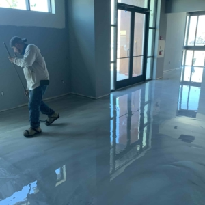 commercial entries improved with epoxy flooring
