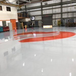 distribution warehouse with urethane floor coating