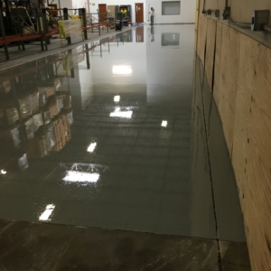 epoxy coating on distribution warehouse floor