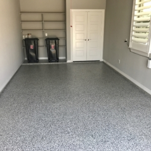 epoxy flooring on residential garage