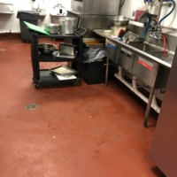 food processing area with epoxy flooring